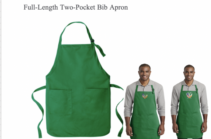 Full-Length Two-Pocket Bib Apron